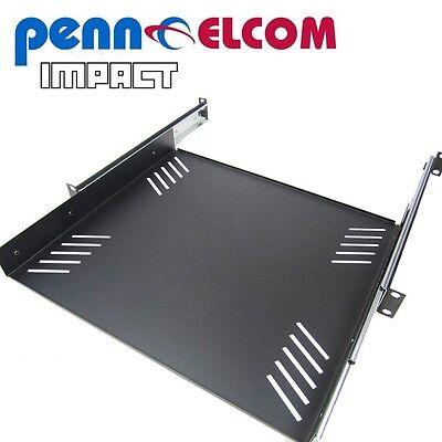 """Penn Elcom R1290/1U 1u 19"""" inch Sliding Rack Tray universal fixing slots"""