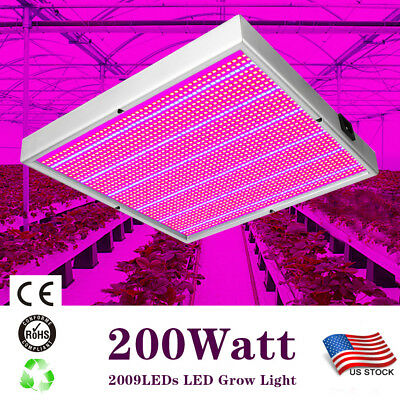 200 Watt 2009LEDs LED Grow Light System For Greenhouse Hydroponic Indoor Plants