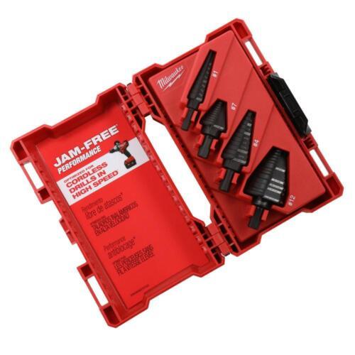 Milwaukee 4 Pc Step Drill Bit Set (48-89-9223)