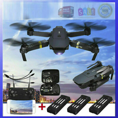 Eachine E58 RC Drone 1080P Camera FPV WIFI Foldable Quadcopter 3Batteries + Bag