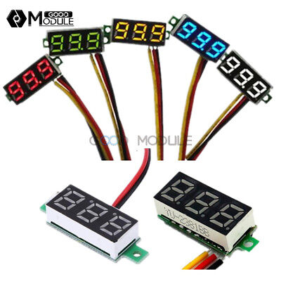 Mini 0.28 2 Wire 3 Wire Led Display Digital Voltmeter Gauge Voltage Panel Meter