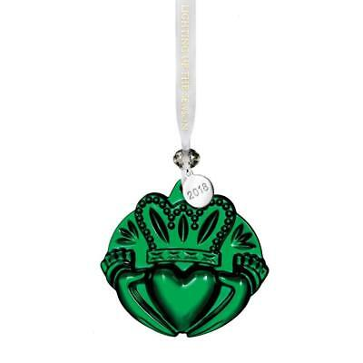 Waterford 2018  Emerald Green Claddagh Chrismtas Ornament 3