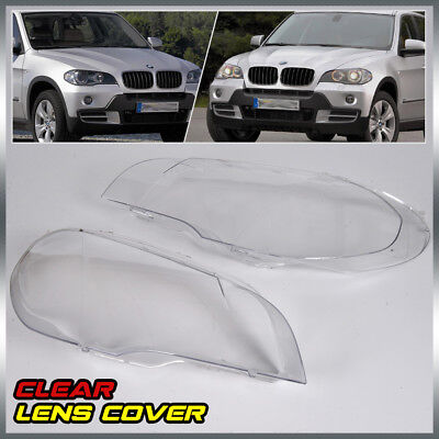 2 X Headlight Lens Lamp Cover Lampshade Replacement For BMW X5 E70 07-12 4-Door ()