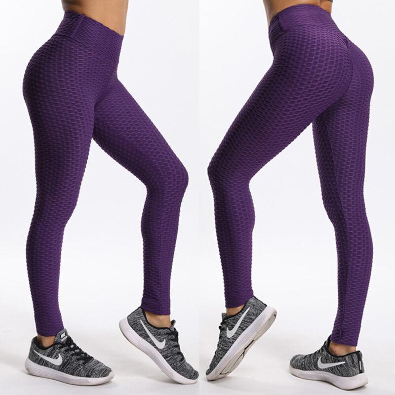 Womens Seamless Leggings Gym Sportswear Yoga Running Fitness Pants Sports HOT