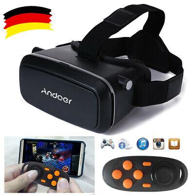 3D VR Brille Virtual Reality Film Spiel Gläser für Samsung iphone+Gamepad X0D2