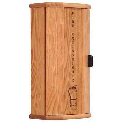 Wooden Mallet Fire Extinguisher Cabinet - 10 Lb. Capacity Light Oak 6.2x10x25.8