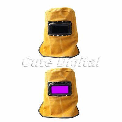 Welding Helmet Leather Solar Auto Darkening Filter Lens Welder Welding Hood