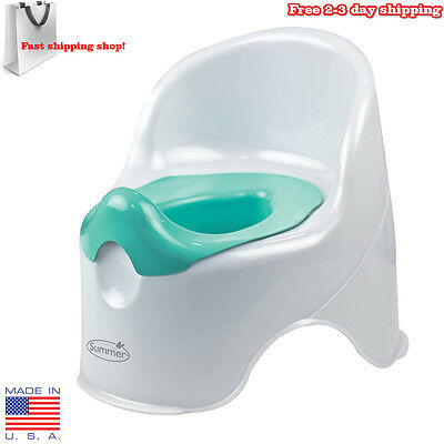Baby Potty Training Seat Toilet Chair Infant Toddler Kids Bathroom Trainer White