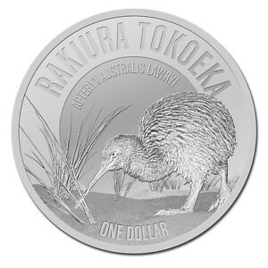 1 oz Silber Kiwi Neuseeland 2017 - 1 New Zealand Dollar im Blister Stempelglanz