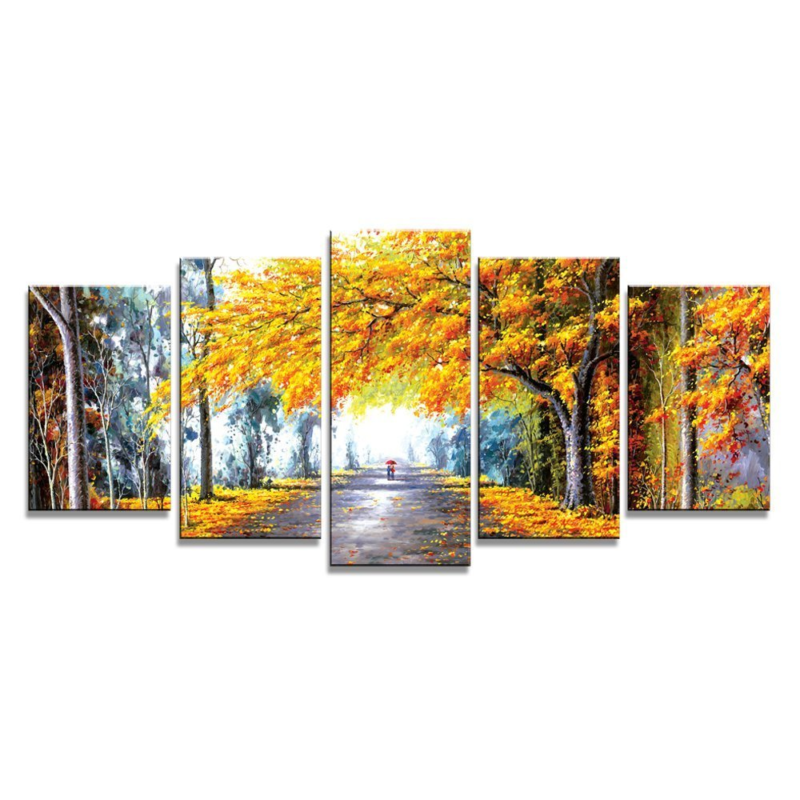 Details about Autumn Abstract Landscape Forest Wall Art Framed Canvas Home  Living Room Decor