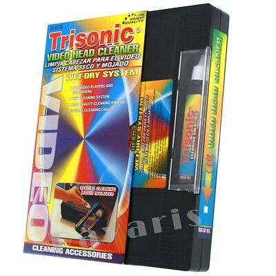Head Cleaning Video Tape Cassette For Vhs Vcr Player   Recorder Wet Dry Cleaner