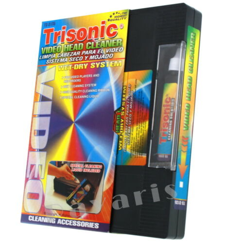 Head Cleaning Video Tape Cassette For VHS VCR Player & Recorder Wet Dry Cleaner