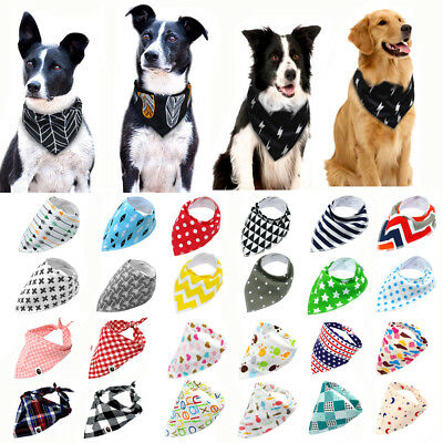 - Soft Nylon Adjustable Dog Bandana Pet Collar Neck Scarf Neckerchief Small Large