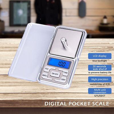 Juwelierwaage Taschenwaage Digitale Waage Feinwaage 500g 0,1g Mini Goldwaage NEU