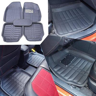 Car Floor Mats Front  Rear Carpet Universal Auto Mat All Weather Waterproof 5pc