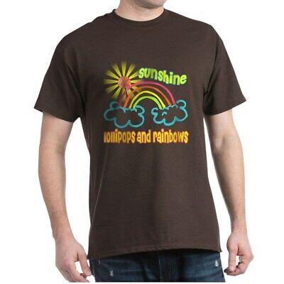 CafePress Sunshine, Lollipops & Rainbows Dark T Shirt Cotton T-Shirt (513115968)
