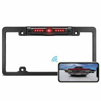 WiFi Wireless Rear View Reverse Backup Camera Car License Plate For Android ios Wireless License Plate Backup