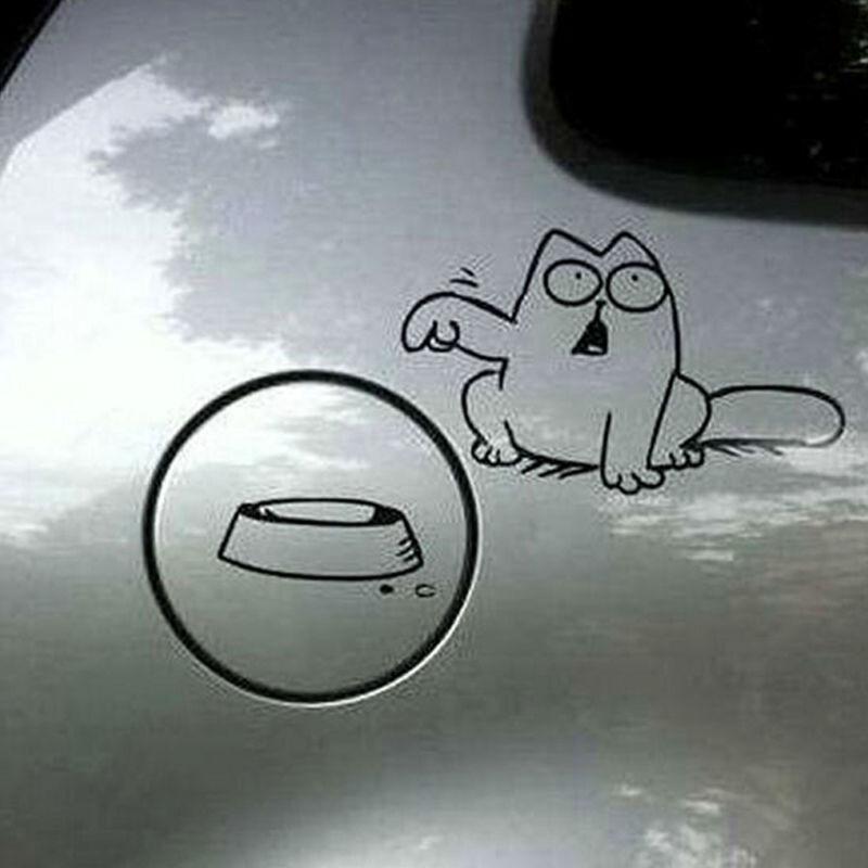 Black Cat Vinyl Decal Sticker Decals Hot Charm Decor For Auto Car/Bumper/Window