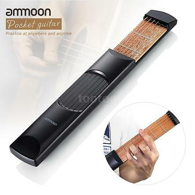 ammoon Portable Pocket Acoustic Guitar Practice Tool Gadget Chord Trainer ~ G0U9