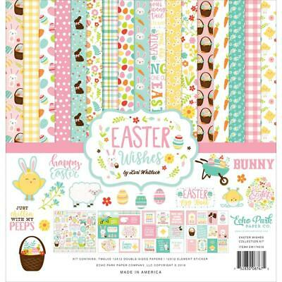 Scrapbooking Crafts 12X12 Paper Pack Easter Wishes Chocolate Bunny Carrots Eggs](Easter Paper)