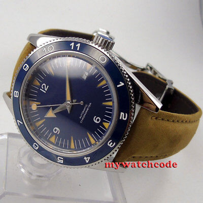 41mm sterile blue deployment clasp sapphire glass miyota Automatic mens Watch