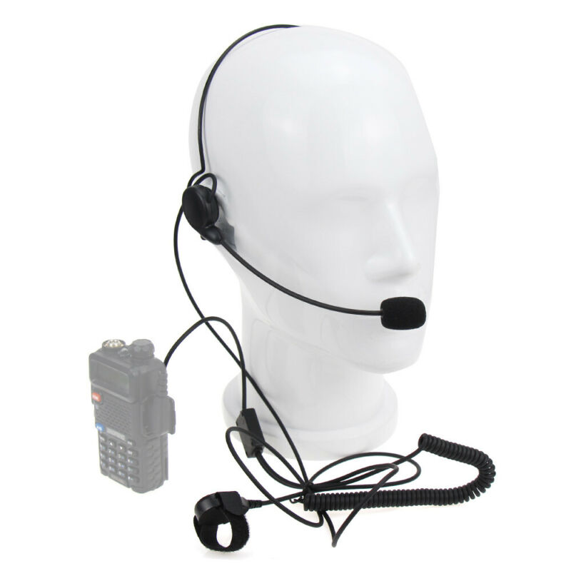 Universal K Plug Walkie Talkie Headphone Headset 2 Pin PTT Mic For Baofeng UV-5R