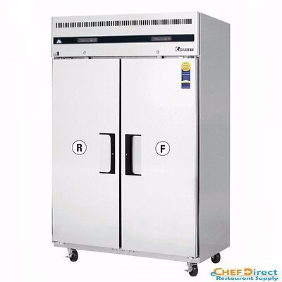 Everest Esrf2a Two Section Upright Reach-in Dual Temp Refrigeratorfreezer Combo