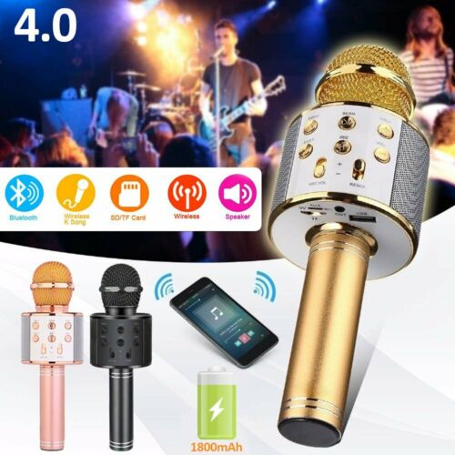 Wireless Bluetooth Karaoke Microphone Handheld Mic Speaker H