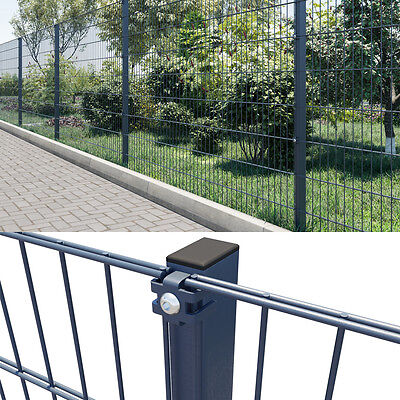 Doppelstabmattenzaun 50 m Industriezaun Gartenzaun Gittermatte Zaun 1830 mm