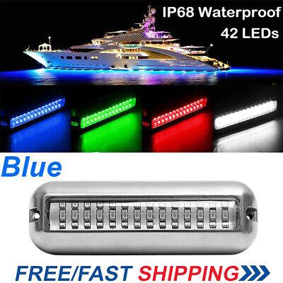Blue 42LED Underwater Boat / Marine Transom Light Pontoon Waterproof Lamp NEW
