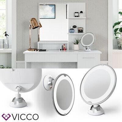 VICCO LED Schminkspiegel 10-fach Vergrößerung Beleuchtung dimmbar Kosmetik