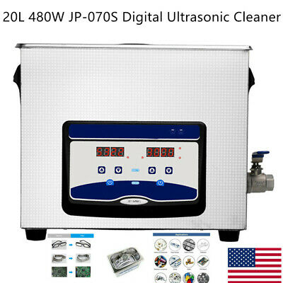 20l 480w Digital Ultrasonic Cleaner Heated Timer Ultra Sonic Cleaning Us Jp-070s