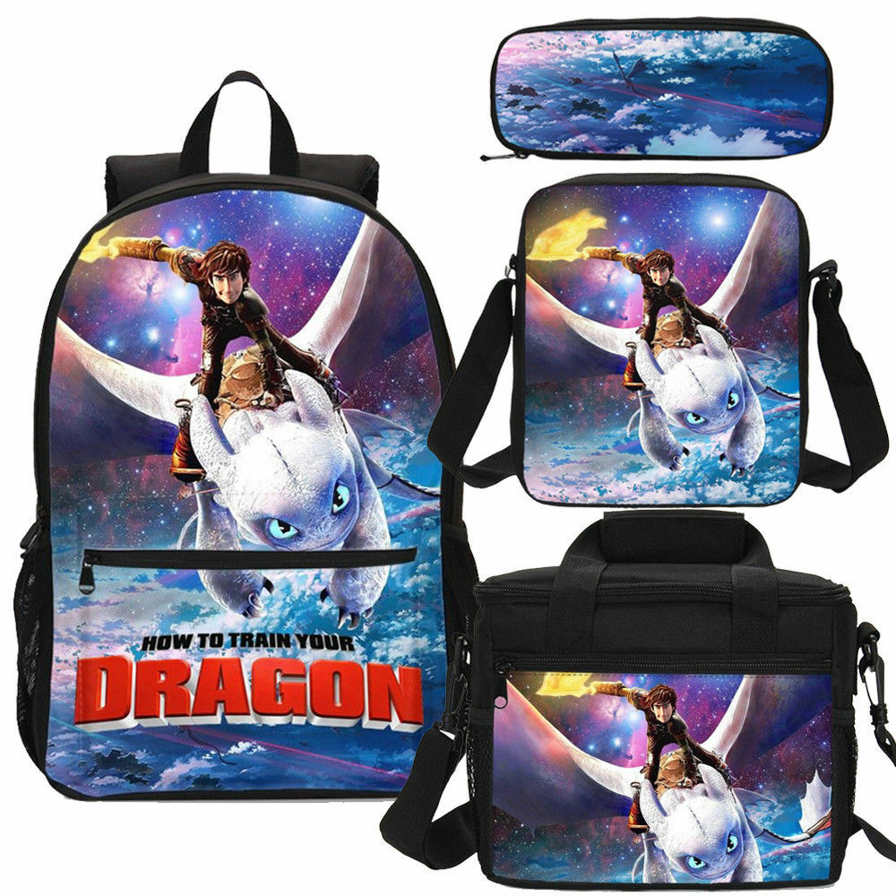 How To Train Your Dragon Backpack Sling Bag Pencil Case Boys GIrl Kids Purse Lot