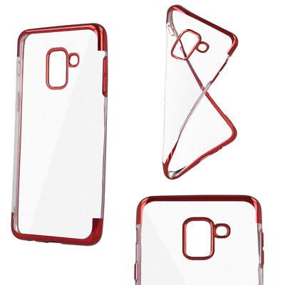 Bumper Plating Soft TPU Schale Handy Case Hülle Tasche Motorola Moto G7 Plus Rot Soft Tpu Bumper Case