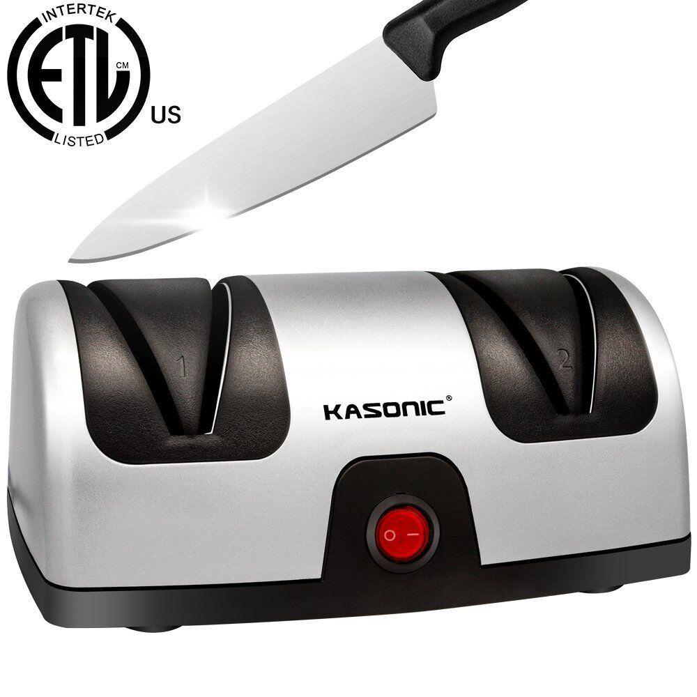 Electric Knife Sharpener, Kasonic 2-Stage 100% Diamond Coate