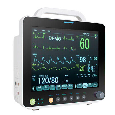 Color Portable Patient Monitor Icu Monitor Ecgnibpspo2tempresppr