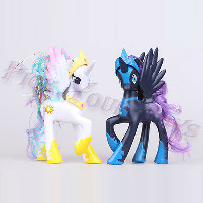"""Set of 2  My Little Pony: 5"""" Princess Celestia and Luna Action Figure Collection"""