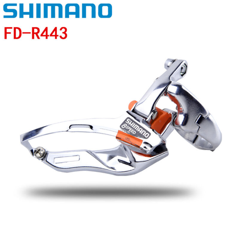 Shimano FD-R443 3 x 8 Speed Road Bicycle Front Derailleur Clamp on 31.88mm
