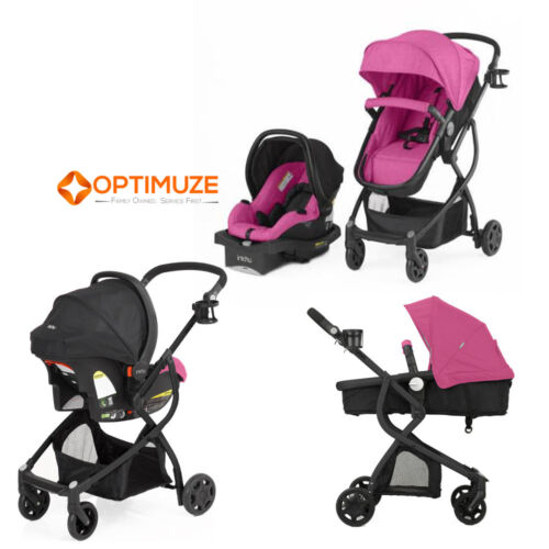 baby stroller car seat 3in1 travel system infant carriage buggy bassinet berry ebay. Black Bedroom Furniture Sets. Home Design Ideas