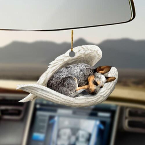 Heeler sleeping angel Two Sides Print Car Hanging Ornament