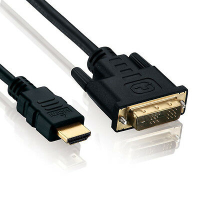 1m HDMI zu DVI Kabel - High Speed / 3D / Full HD / 1080p - Beamer / Monitor / TV