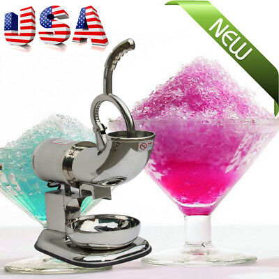 Us Electric Ice Shaver Machine Snow Cone Maker 440lbs Crusher Shaving Cold Drink