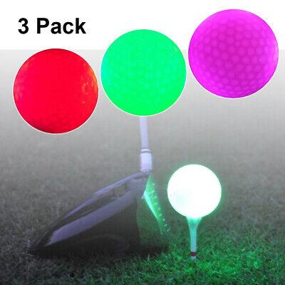 3pcs LED Golfbälle Leuchtend Golf Trainingsbälle Übungsbälle für Nacht Training