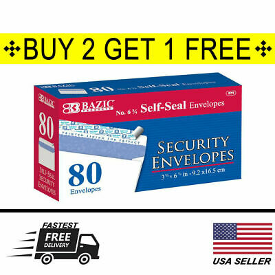 80 Peel Self-seal White Letter Mailing Security Envelopes 3-58 X 6-12