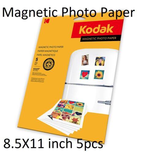 "Kodak Magnetic Photo Paper Inkjet Printer 8.5x11"" Fridge Magnet Sheets DIY 5x"