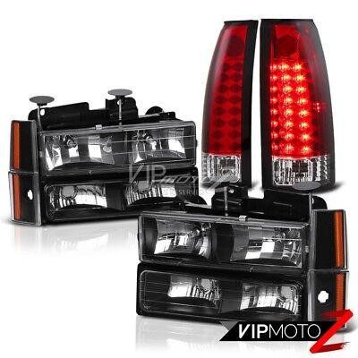1992-1993 Chevy Suburban CK 1500 2500 Red LED Brake Lamps Corner Headlights C10