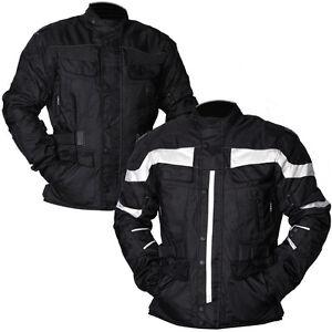 New-Mens-Black-Grey-Motorcycle-Jacket-Textile-CE-Armoured-Motorbike-Waterproof