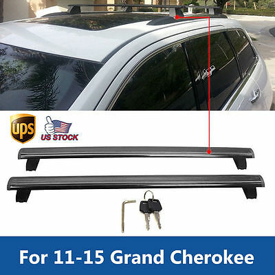 For 2011-2015 Grand Cherokee Top Roof Rack Cross Bar Luggage Carrier Key Lock