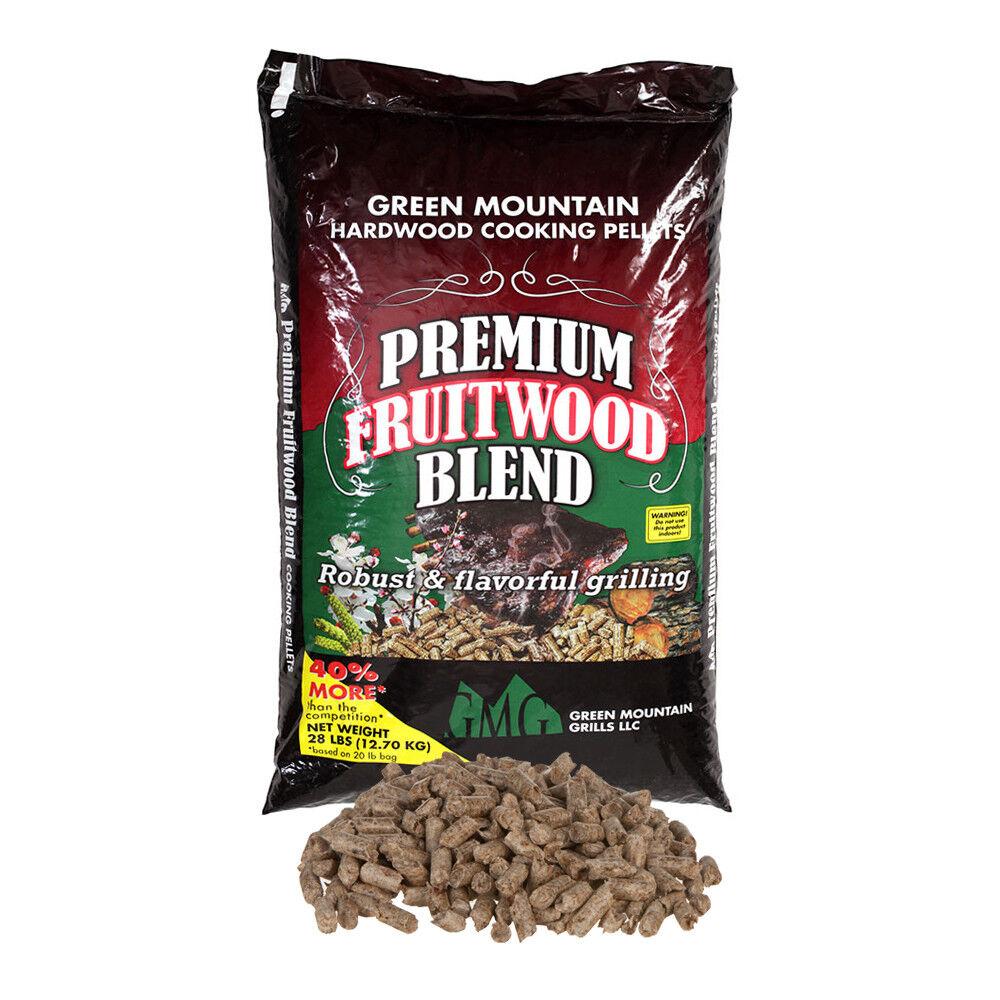 New Green Mountain Grills Premium Fruitwood Blend Wood Pelle