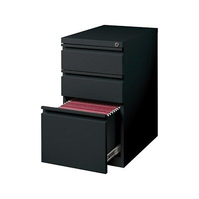 Staples 3-drawer Vertical File Cabinet Locking Letter Black 19.88d 375802